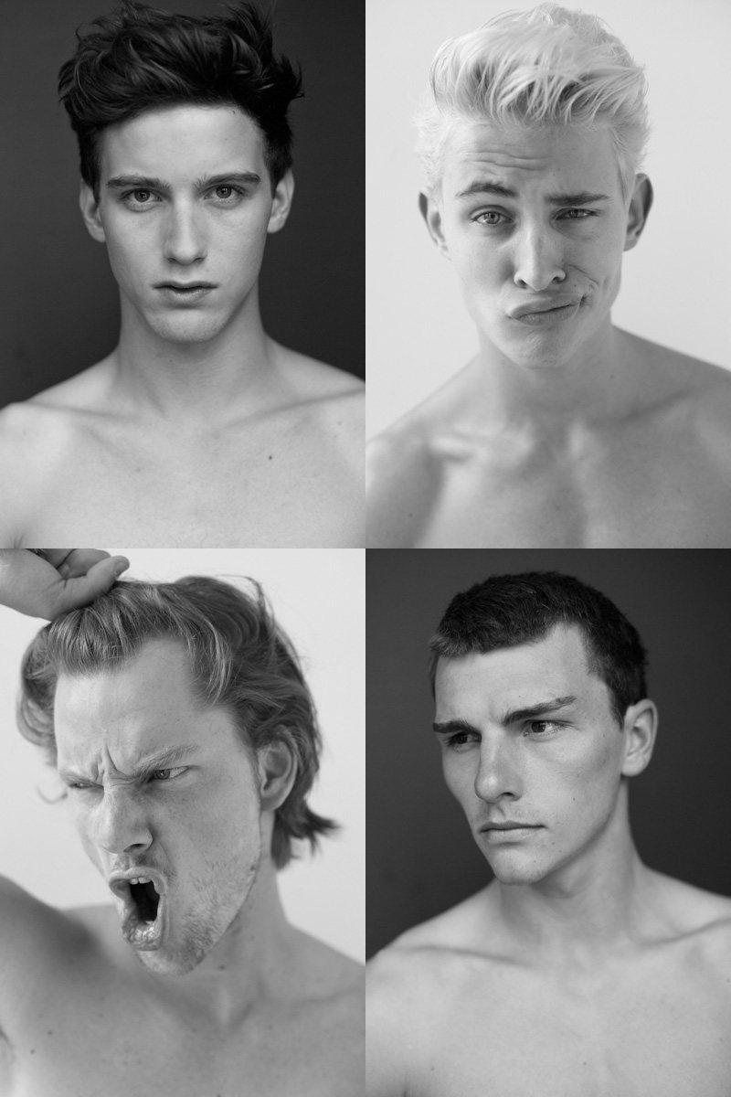 Casting Call: New York Fashion Week Spring 2012 Edition   Hampus Lück, John R, Rich Stinger & RJ King by Nikolai de Vera