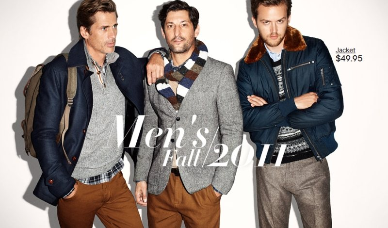 Jamie Strachan, Mark Vanderloo & Tony Ward by Terry Richardson for H&M Fall 2011 Campaign
