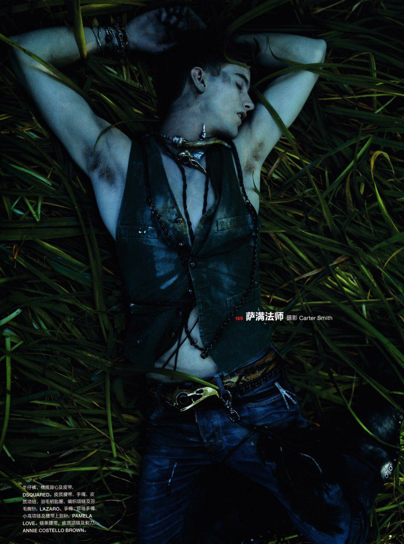 RJ King by Carter Smith for Numéro Homme China