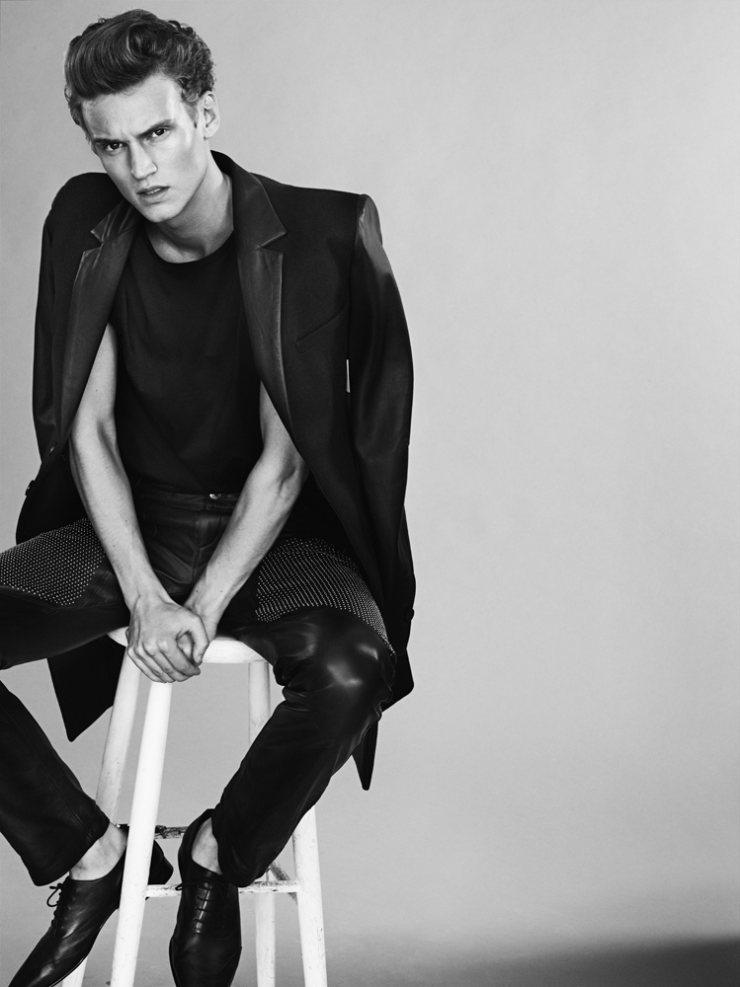 Alexander Johansson by Tobias Lundkvist in H&M x Versace for Rodeo Magazine