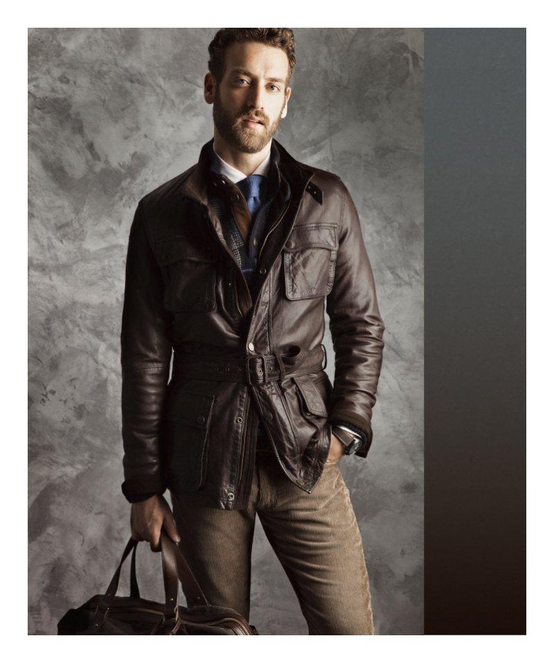 Massimo dutti leather jacket 2014
