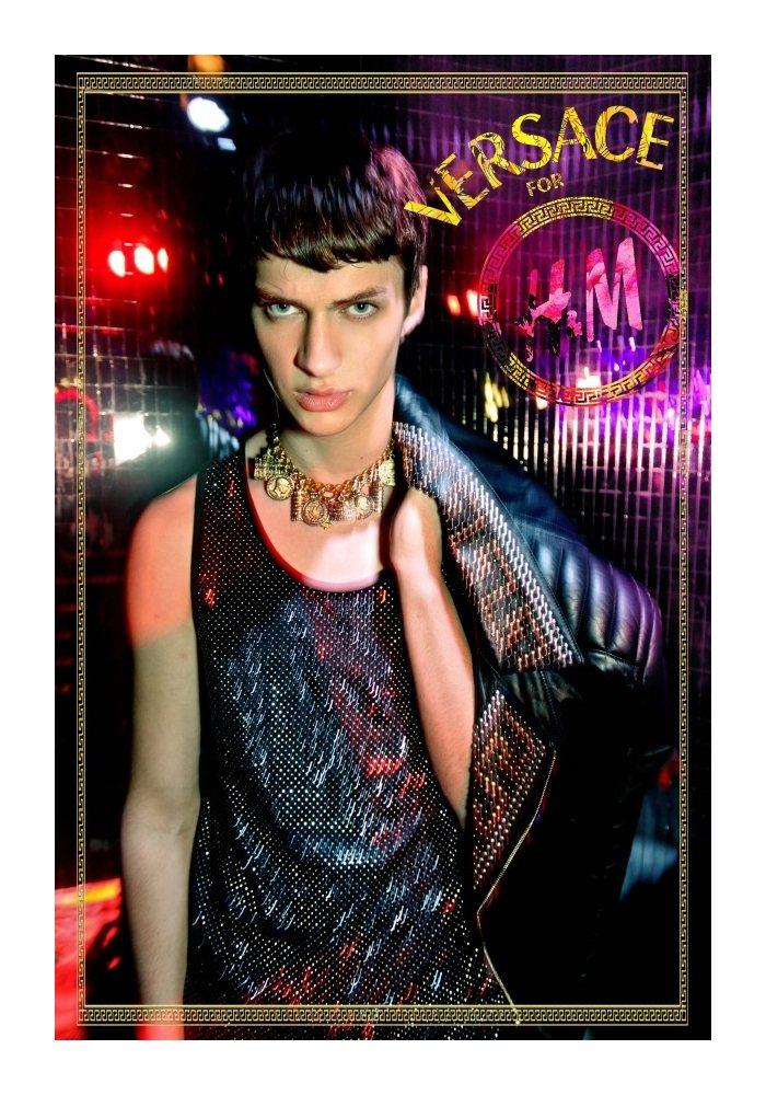 Matthew Bell by Riccardo Slavik in H&M x Versace for Flamboyant