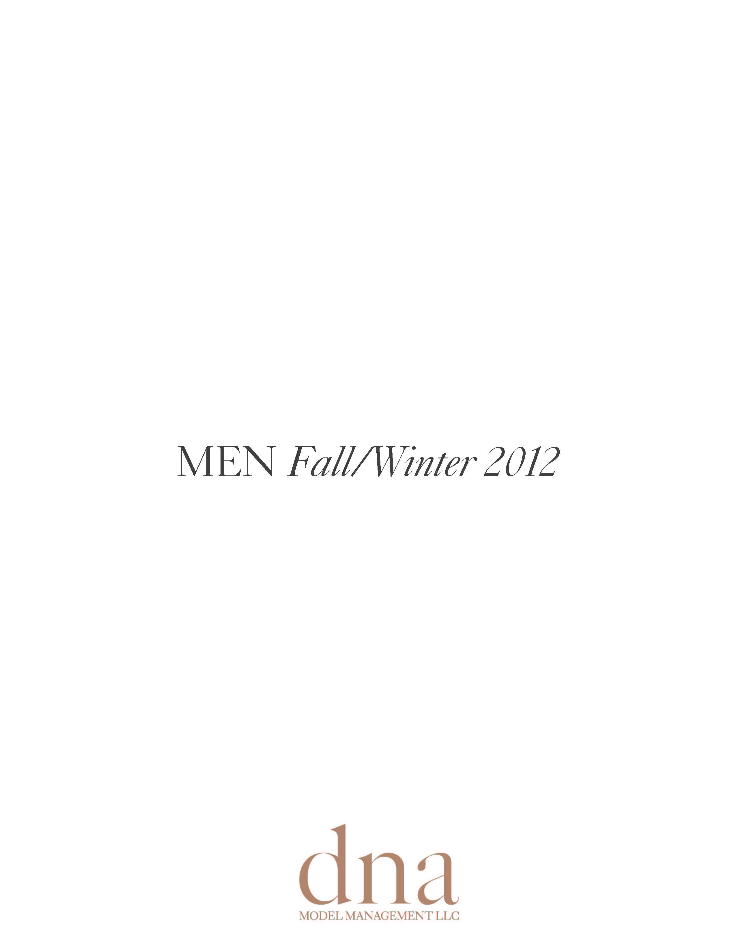 DNA Fall/Winter 2012 Show Package