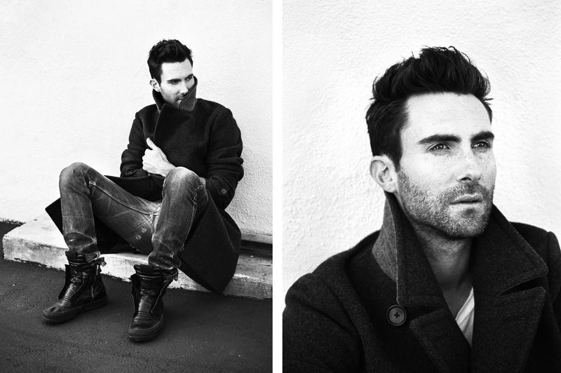 Adam Levine Suit Photoshoot