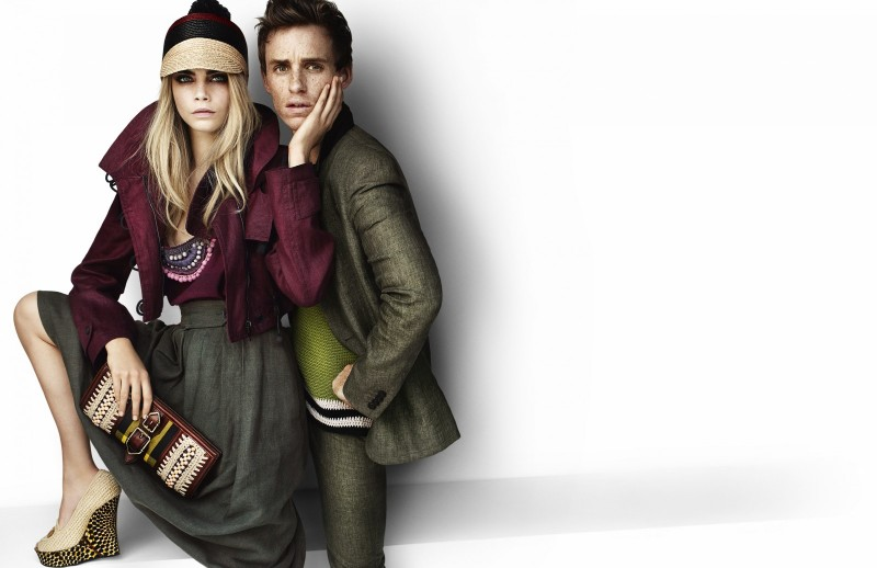 Eddie Redmayne by Mario Testino for Burberry Spring/Summer 2012 Campaign (February)