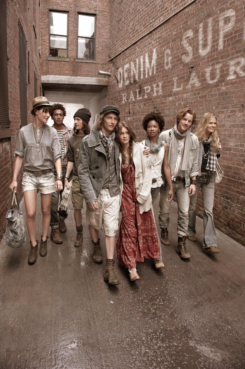 Christian Brylle, Hampus Lück, Randy Lebeau & Thiago Santos for Ralph Lauren Spring/Summer 2012 Denim & Supply Campaign