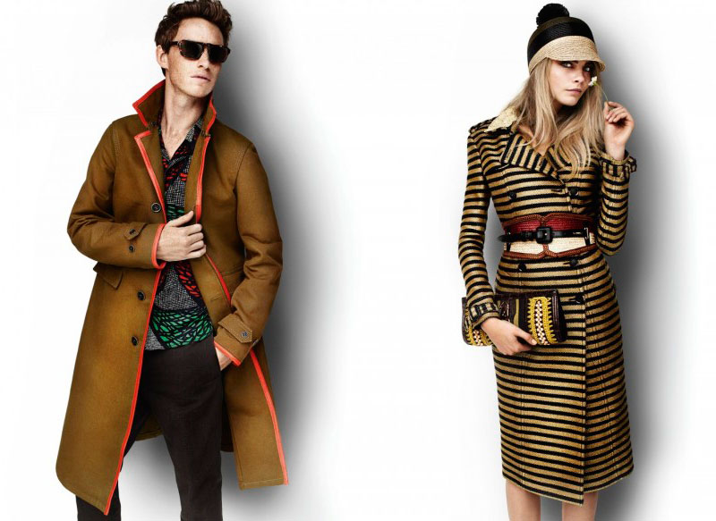 Eddie Redmayne by Mario Testino for Burberry Spring/Summer 2012 Campaign (March)