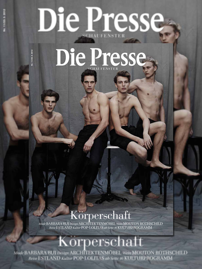 Benedikt Angerer, Gerhard Freidl, Michael Gstoettner & Patrick Kafka by Michael Brus for Die Presse