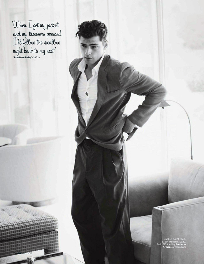 Sean O'Pry by Guy Aroch for GQ UK