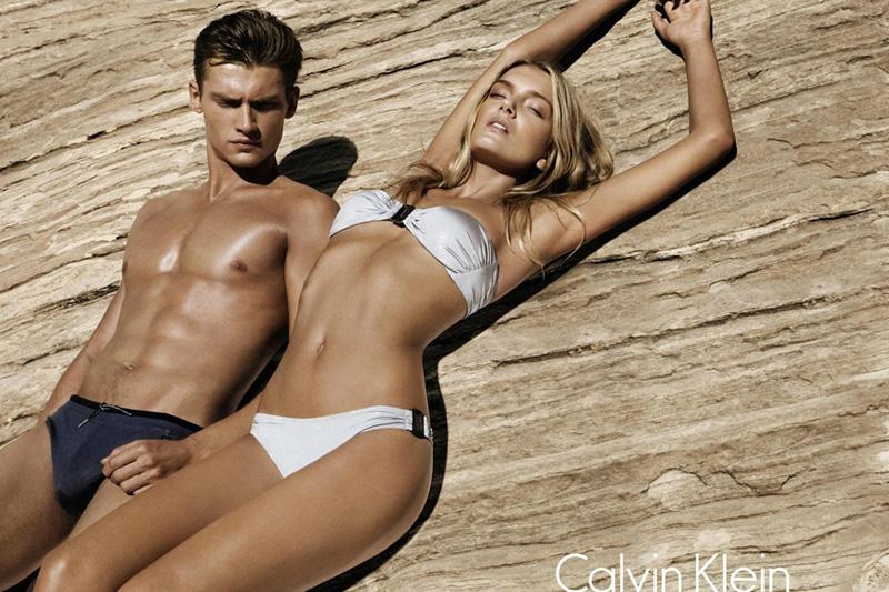 A Bronzed Vladimir Ivanov Stars in Calvin Klein's Spring/Summer 2012 Swimwear Campaign