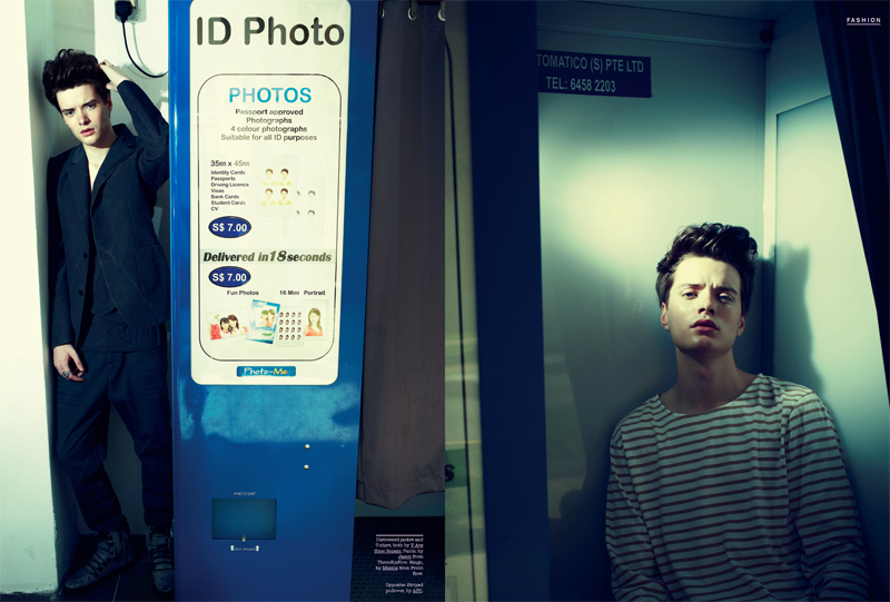 Otto Lundbladh Enters the Photo Booth for FHM Singapore