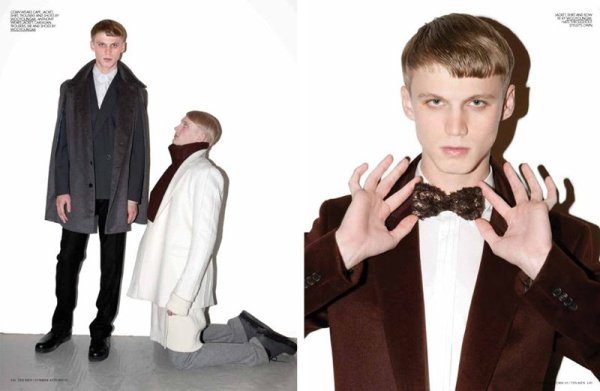 Collin Tennant, Abiah Hostvedt, Paolo Anchisi & Anthony Murrell by Marcelo Krasilcic for 10 Men