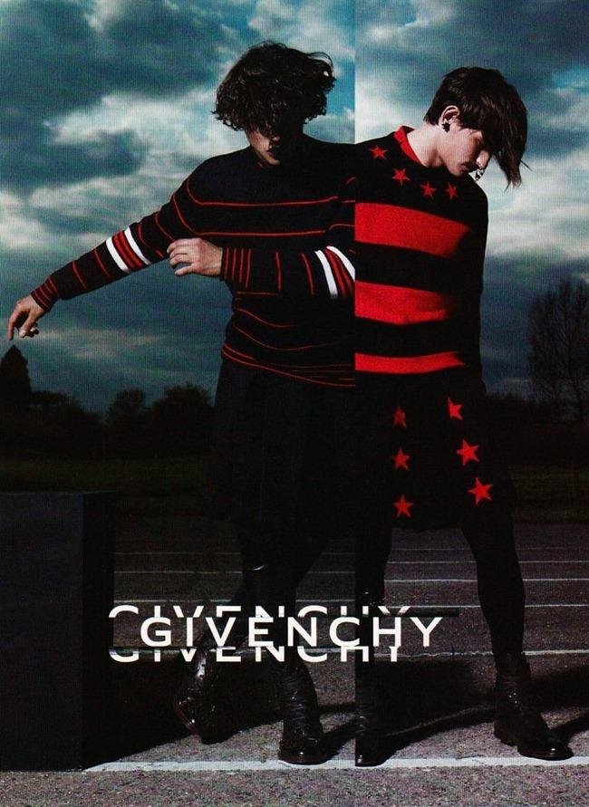 Rodrigo Braga and Jarrod Scott front Givenchy's fall-winter 2012 campaign.