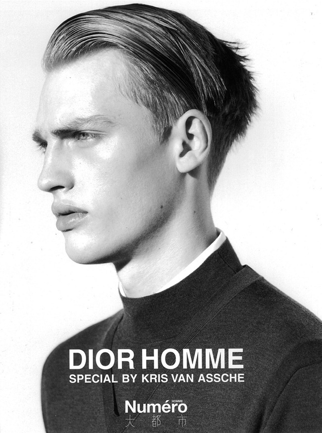 Adrien Sahores, Max Rendell & Victor Nylander Don Dior Homme Fall/Winter 2012 for Numéro Homme China image