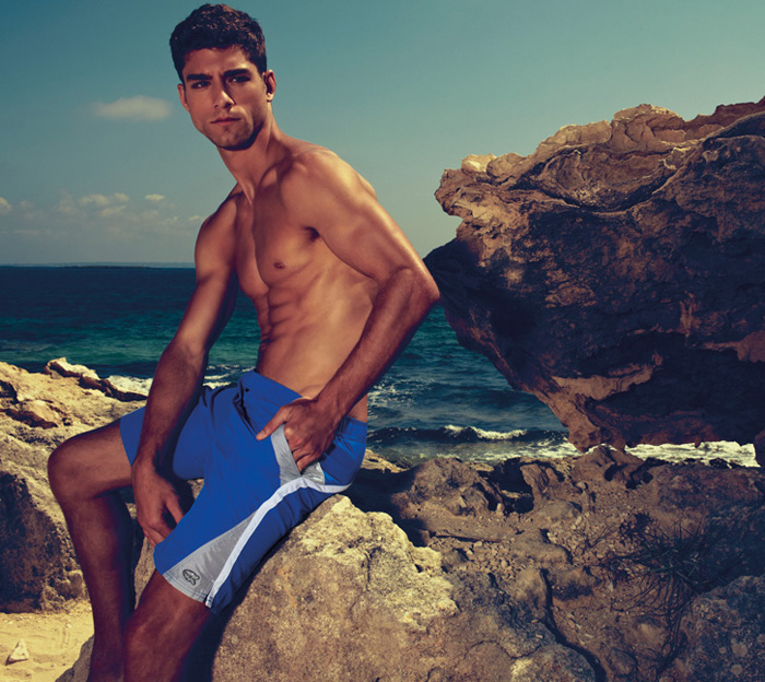 André Ziehe Shows Off His Beach Bod for AllenCox Spring/Summer 2012
