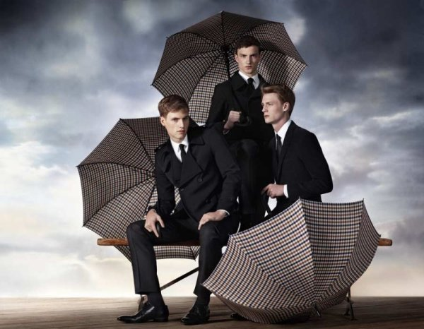 Aquascutum Fall 2010 Campaign   Jacob Coupe, Matt Benstead & Tristan Knights by Willy Vanderperre