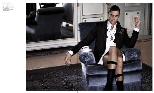 VMAN Editorial | Gentleman of Leisure--Baptiste Giabiconi by Karl Lagerfeld