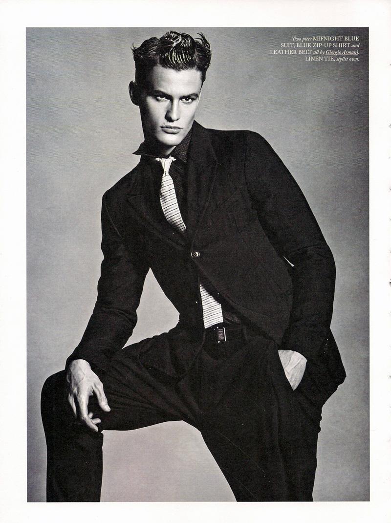 Caspar Oechsler Models Giorgio Armani's Timeless Elegance for Hercules