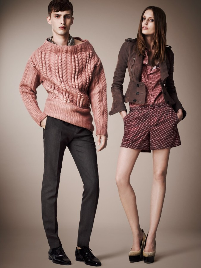 95cd02fcfee3 Charlie France Models Burberry Prorsum s Pre-Spring 2013 Collection ...