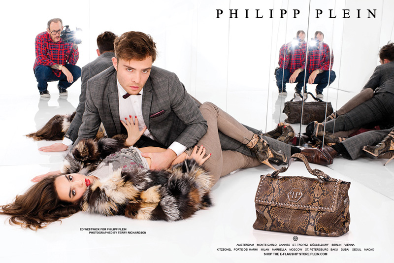 Ed Westwick stars in Philipp Plein's advertising campaign.