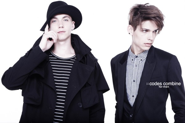 Ethan James & Yuri Pleskun by KT Auleta for Codes Combine Fall 2010 Campaign