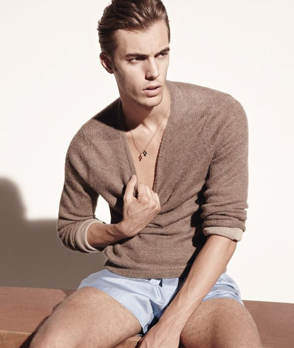 Federico Cola by Milan Vukmirovic for L'Officiel Hommes Italia