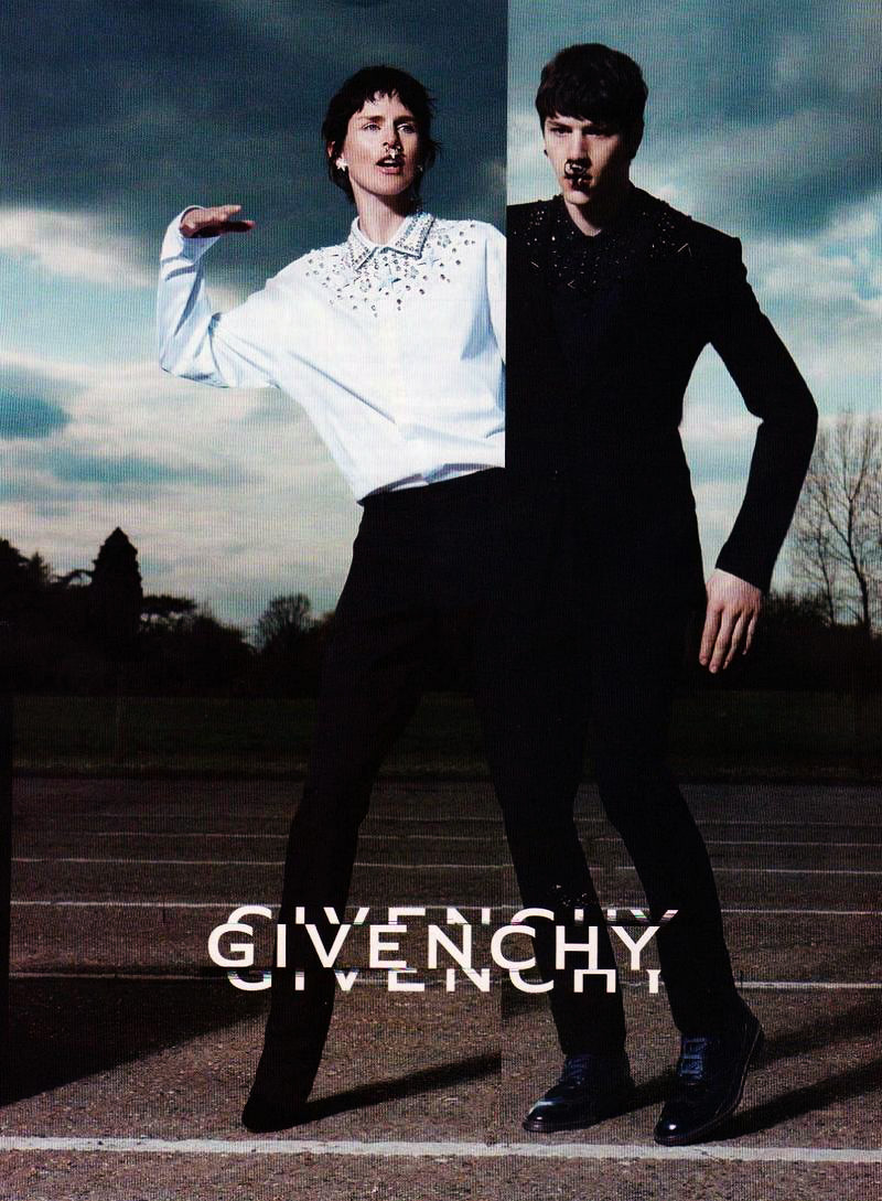 Models Stella Tennant and Simone Nobili star in Givenchy's fall-winter 2012 campaign.
