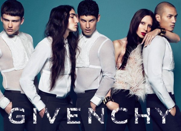 Givenchy Fall 2010 Campaign   Simon Nessman, Jonathan Marquez, Paolo Roldan & Willy Cartier by Mert & Marcus