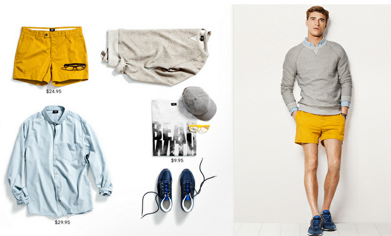 Clément Chabernaud, Jake Davies & Oscar Spendrup Don Summer Shorts & Chinos for H&M