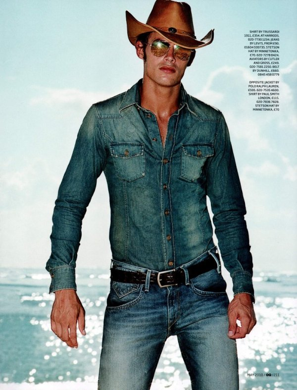 Jacey Elthalion by Max Vadukul in High Noon for GQ UK May 2010