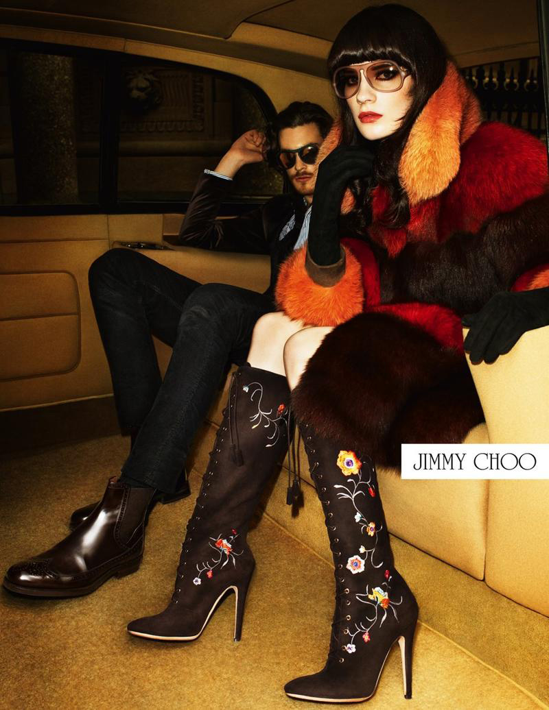 Jonas Kesseler Takes a Backseat for Jimmy Choo Fall/Winter 2012 Campaign