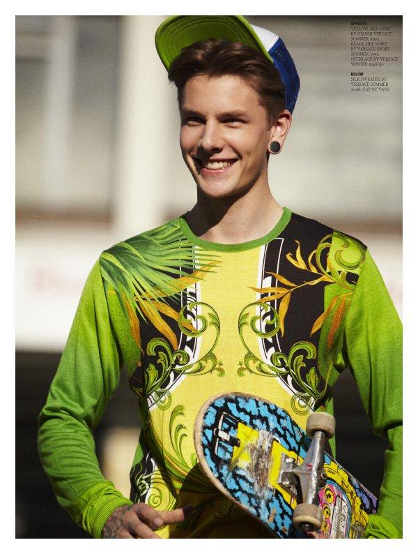 Keno by Stefan Heinrichs in Versace for Hero Magazine