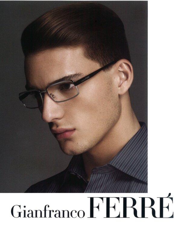 Nikola Jovanovic by Emilio Tini for Gianfranco Ferré Fall 2010 Eyewear Campaign