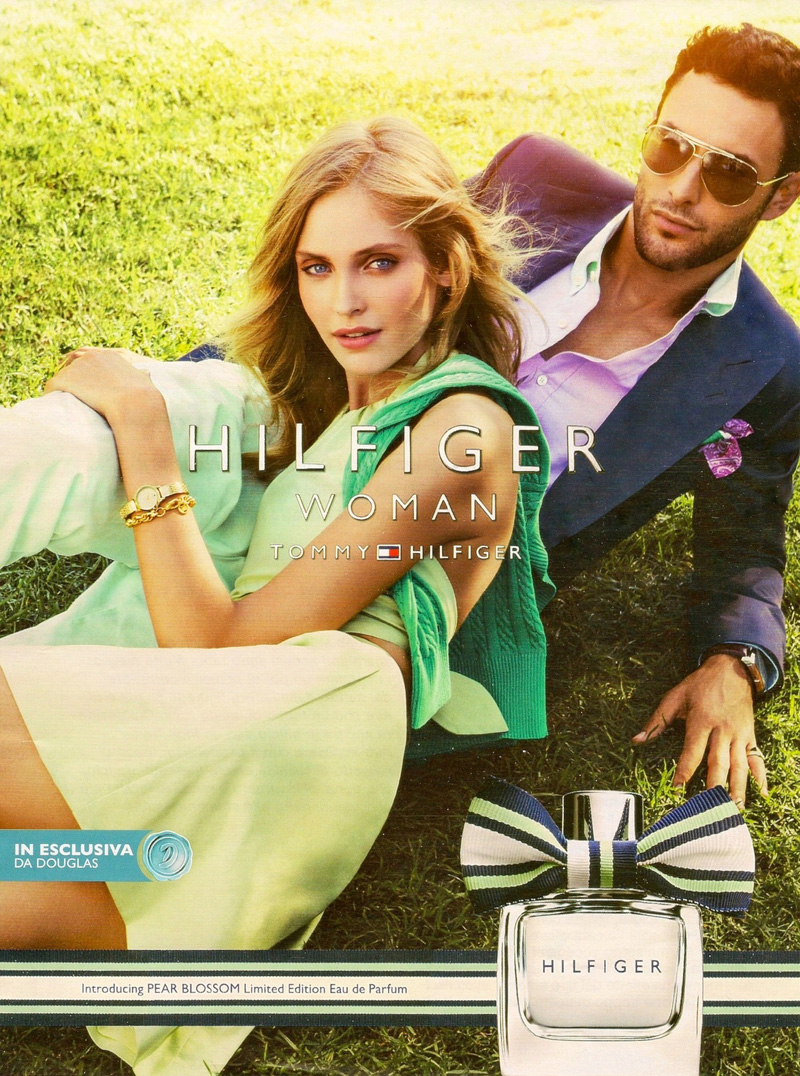 Noah Mills Lounges for Tommy Hilfiger s  Pear Blossom  Fragrance Campaign ac49f07467