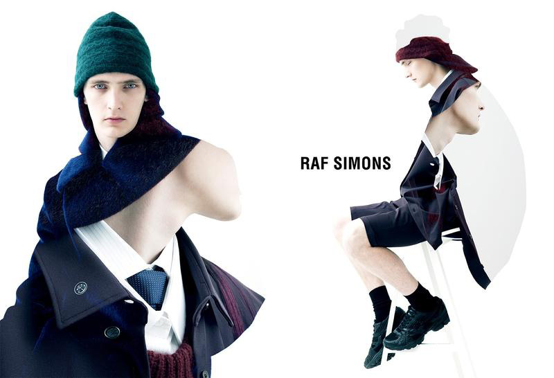Yannick Abrath is as Striking as Usual in Raf Simons' Fall/Winter 2012 Campaign