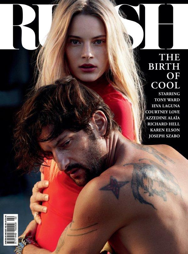 Russh #34 June/July 2010 Cover | Tony Ward & Ieva Laguna by Will Davidson