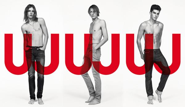 Uniqlo Jeans Spring 2010 Campaign   Christian Brylle, Paolo Anchisi & Viggo Jonasson by Inez & Vinoodh