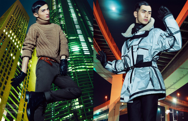 Daisuke Ueda, Takeshi Mikawai & Takeshi Uematsu are Urban Warriors for Vogue Hommes Japan