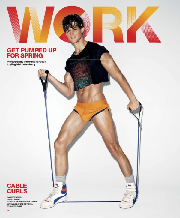 VMAN Preview | Work It Out--Garrett Neff, Cory Bond & Others by Terry Richardson