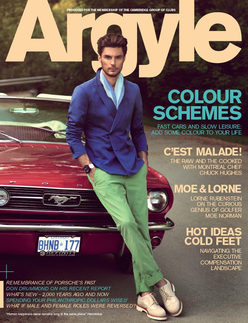 Casey Taylor Embraces Color for Argyle