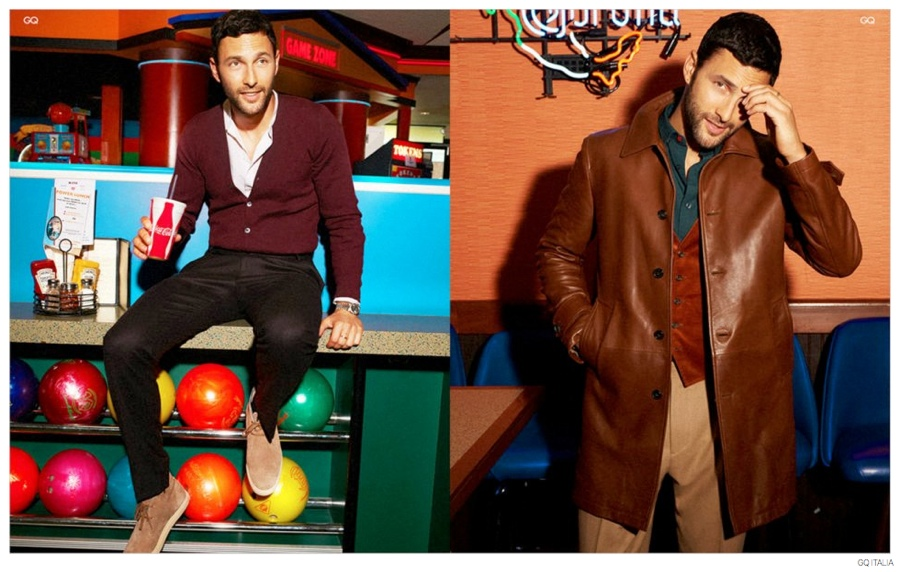 TBT: Noah Mills Poses for GQ Italia's August 2012 Issue
