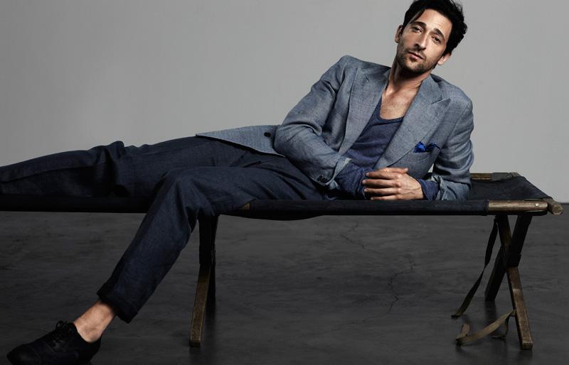 Adrien Brody by René Habermacher for Elle Men China