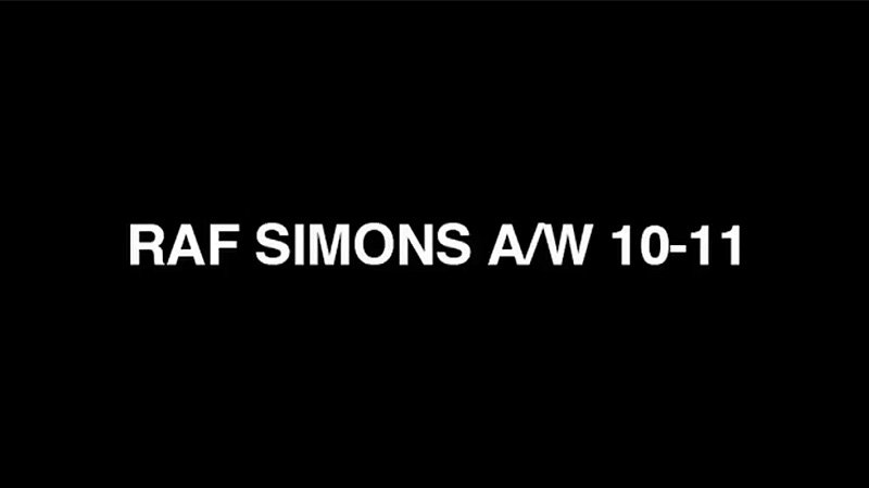Raf Simons Fall 2010 Campaign   Aiden Andrews by Willy Vanderperre