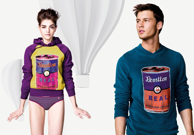 Alfred Kovac is 'Fresh Faced' for Undercolors of Benetton Fall/Winter 2012