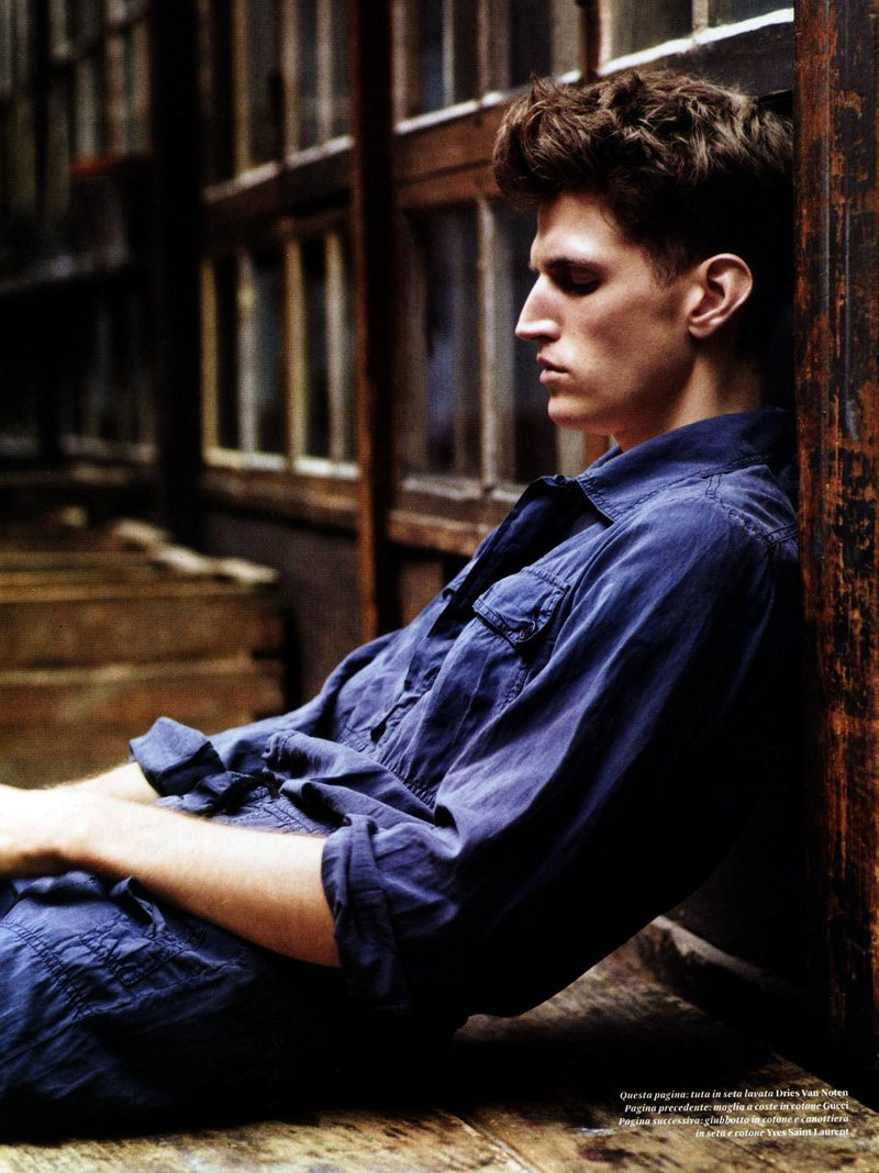 Andre Feulner by Thomas Lohr for L'Officiel Hommes Italia