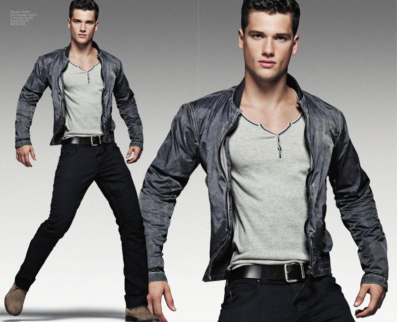 Arthur Sales is Armani Jeans' Spring/Summer 2012 Catalogue Boy