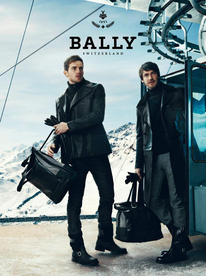 Andrew Cooper & Robert Konjic go to Chalet d'Adrien for Bally's Fall/Winter 2012 Campaign