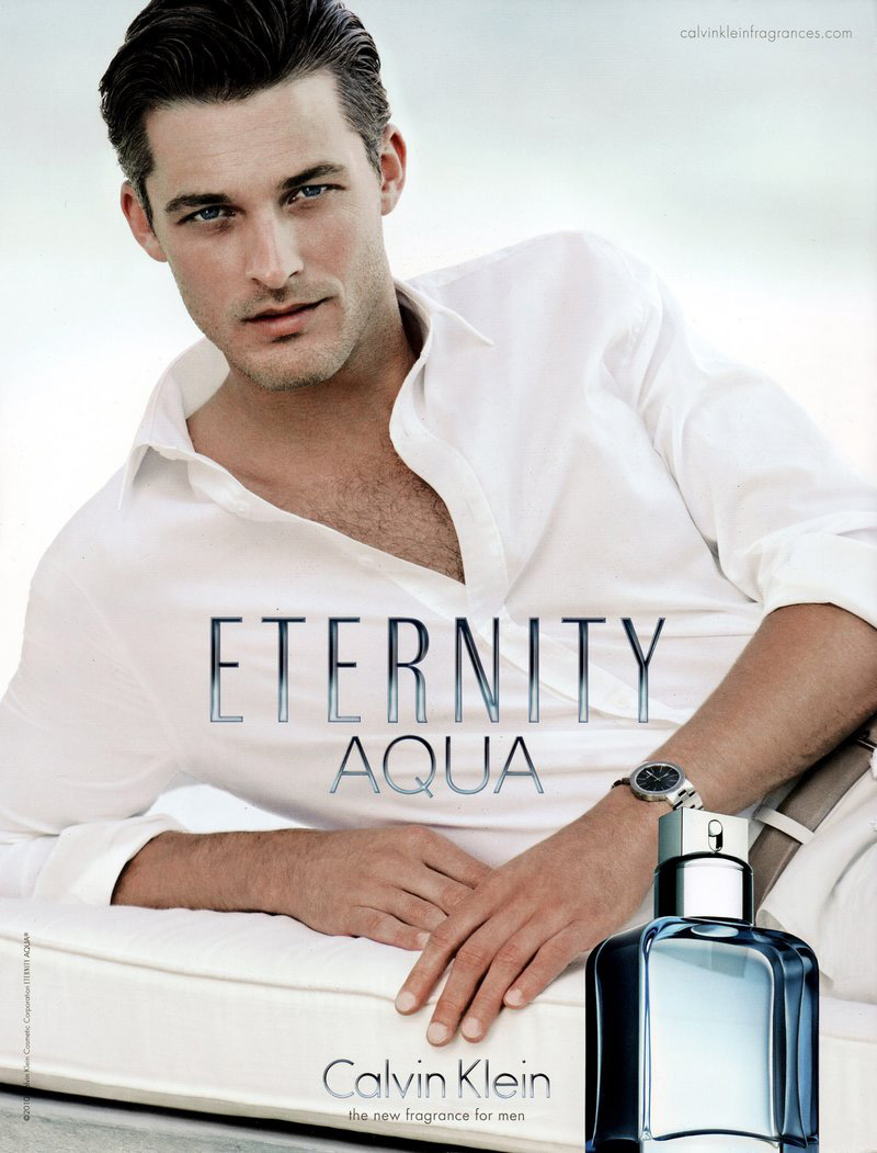 Ben Hill Cools Down for Calvin Klein's Eternity Aqua Campaign by David Sims