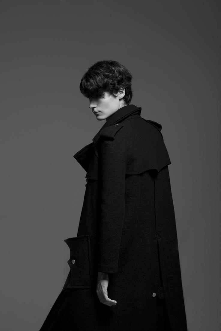 Guntars Asmanis Wears Dark Hues for Blaze Diaries by Rubén Ortiz