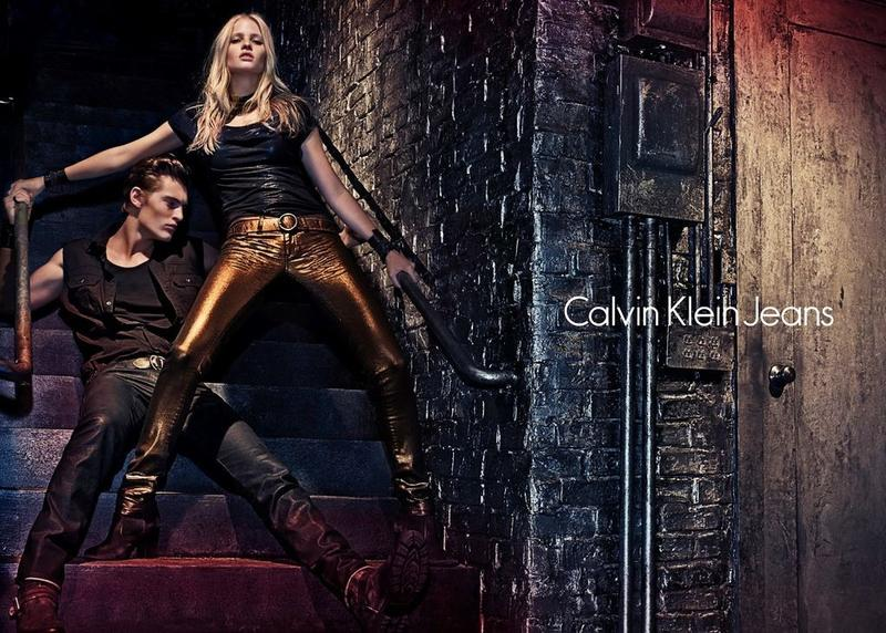 Myles Crosby & Janis Ancens Join Lara Stone for Calvin Klein Jeans Fall/Winter 2012 Campaign